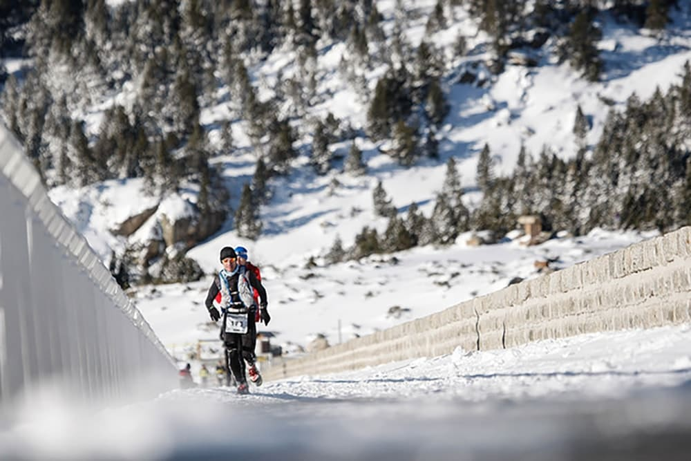 Romeu Fontaine, trail sur neige, course de montagne à Font Romeu dans les sud de la France organisée par Agence Pmd