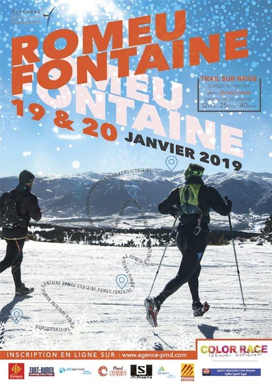 organisation d'un trail sur neilge à font Romeu par l'Agence PMD, spécialiste de l'organisation d' évènementiels sportifs, séminaires d' entreprise, stages sportifs, séjours en montagne à Font Romeu dans les PO