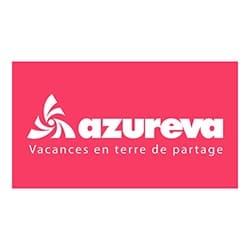 logo de AZUREVA, partenaire de l'agence Pmd, organisation de séminaire entreprise dans les PO, stages et séjours sportifs, événementiel et location de chalets