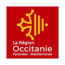 logo de la région Occitanie, partenaire de l'agence Pmd, organisation de séminaire entreprise dans les PO, stages et séjours sportifs, événementiel et location de chalets