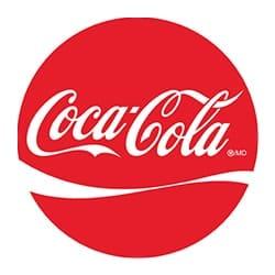 Logo Coca-cola, partenaire de l'agence Pmd, organisation de séminaire entreprise dans les PO, stages et séjours sportifs, événementiel et location de chalets
