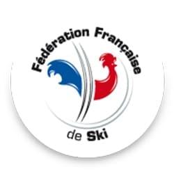logo de la Fédération Française de ski, partenaire de l'agence Pmd, organisation de séminaire entreprise dans les PO, stages et séjours sportifs, événementiel et location de chalets